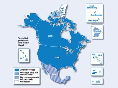 City Navigator Šiaurės Amerika / Map of North America - GPS ŽEMĖLAPIAI PND / Garmin