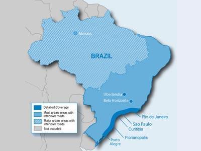 City Navigator Brazilija / Map of Brasil - GPS ŽEMĖLAPIAI PND / Garmin
