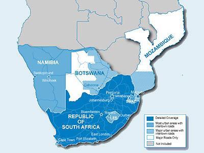 City Navigator Pietų Afrika / Map of Southern Africa - GPS ŽEMĖLAPIAI PND / Garmin