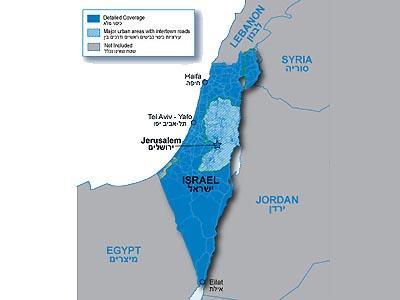 City Navigator Izraelis / Map of Israel - GPS ŽEMĖLAPIAI PND / Garmin