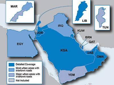 City Navigator Artimieji Rytai ir Šiaurės Afrika / Map of Middle East & Northern Africa - GPS ŽEMĖLAPIAI PND / Garmin